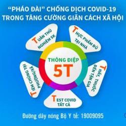 Thông điệp 5T - Pháo đài chống dịch COVID-19 trong tăng cường giãn cách xã hội