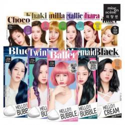 [REVIEW] Thuốc nhuộm tóc Hello Bubble Foam Mise En Scene mẫu Black Pink