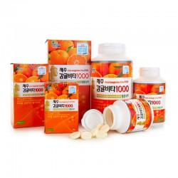 Viên Ngậm Vitamin C Jeju Tangerine HQ119 Hàn Quốc [500mg] mang đến làn da khỏe đẹp