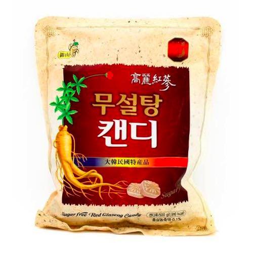 Kẹo Hồng Sâm Không Đường Trắng Gói 500g Hàn Quốc - Thảo dược có lợi cho sức khỏe và răng miệng