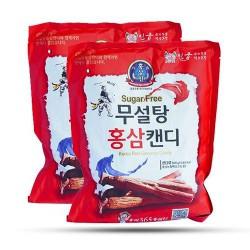 Kẹo Hồng Sâm Không Đường Đỏ 365 Hàn Quốc Túi 500g dùng được cho người tiểu đường