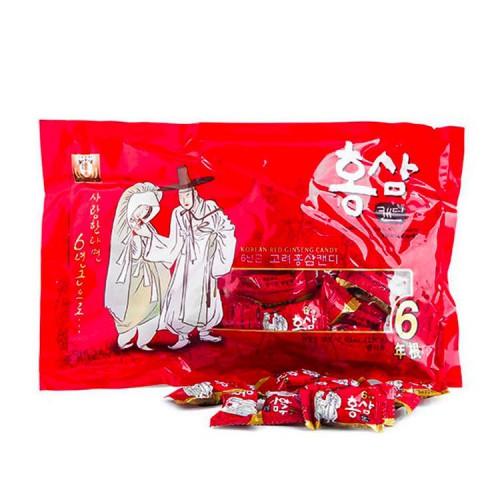 Kẹo Hồng Sâm Ông Bà Lão Hàn Quốc 200g giúp tăng cường hệ thần kinh, giảm stress, mệt mỏi