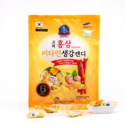 Kẹo Hồng Sâm Vị Gừng 365 Hàn Quốc 300g - Giảm ho hiệu quả