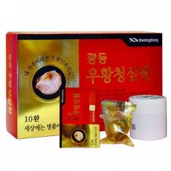 An Cung Ngưu Tổ Yến Kwangdong tem vàng loại 1 (An cung ngưu hoàng hoàn) hộp 10 viên - Chống tai biến mạch máu não
