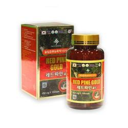 Viên Tinh Dầu Thông Đỏ Red Pine Gold Hàn Quốc Nhập Khẩu [450mg x100 viên] - Tăng cường tuần hoàn máu thích hợp nhất với người lớn tuổi