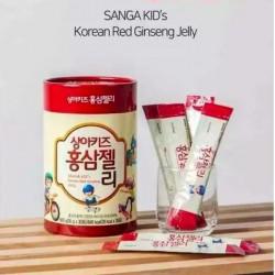 Thạch Hồng Sâm Baby SANGA Kids Hàn Quốc Nhập Khẩu [20g x 30 gói] - Món ăn vặt cực kỳ bổ dưỡng cho trẻ nhỏ