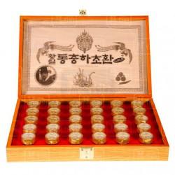 Đông Trùng Hạ Thảo Hộp Gỗ Vàng Ông Quan KangHwa 30 Viên Hàn Quốc (3,75g x 30 viên/ hộp) hỗ trợ chăm sóc sức khỏe