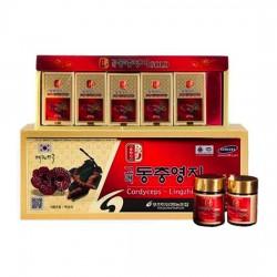 Cao Linh Chi Đông Trùng Pocheon Hàn Quốc Nhập Khẩu [Hộp 5 lọ x 50g] thực phẩm chức năng dành cho người gầy yếu