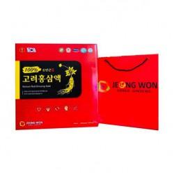 Lốc Nước Sâm 100% Jeong Won Hàn Quốc [30 gói x 30ml] bảo vệ cơ thể toàn diện