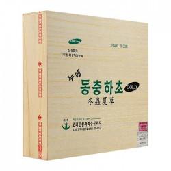 Đông Trùng Hạ Thảo (Hộp trắng) hộp gỗ 60 gói - Thánh dược cải lão hoàn đồng từ ngàn xưa
