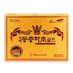 Đông trùng hạ thảo Kangwa (hộp vàng) hộp 60 gói - món quà bồi bổ sức khỏe toàn diện cho người thân và gia đình