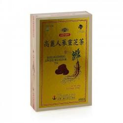 Trà Sâm Linh Chi Hàn Quốc [Hộp Gỗ 100 Gói x 3g] - Sản phẩm bồi bổ cơ thể dành cho người lớn tuổi