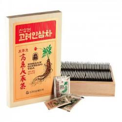 Trà Sâm Hộp Gỗ Okinsam Hàn Quốc [100 gói x 3g] - Sản phẩm giúp phục hồi sức khỏe cho người mới ốm dậy