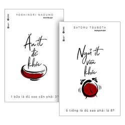 Bộ Sách Ăn Ít Để Khỏe + Ngủ Ít Vẫn Khỏe (Tặng TedBooks - Cà Phê Trên Sao Hỏa + Postcard bốn mùa)
