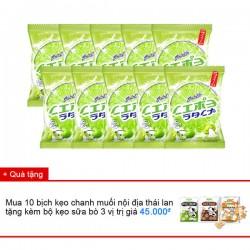 Combo kẹo chanh muối nội địa thái lan x 10