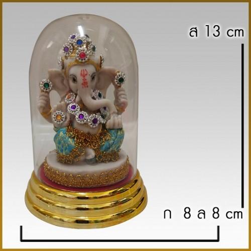 Tượng Voi Thần Ganesha Thái Lan [Có Lồng Kính]