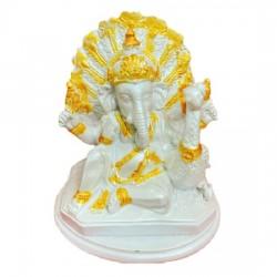 Tượng Voi Thần Ganesha Trắng Thái Lan Size Nhỏ