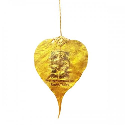 Lá Bồ Đề Dát Mạ Vàng Thái Lan Hình Phật