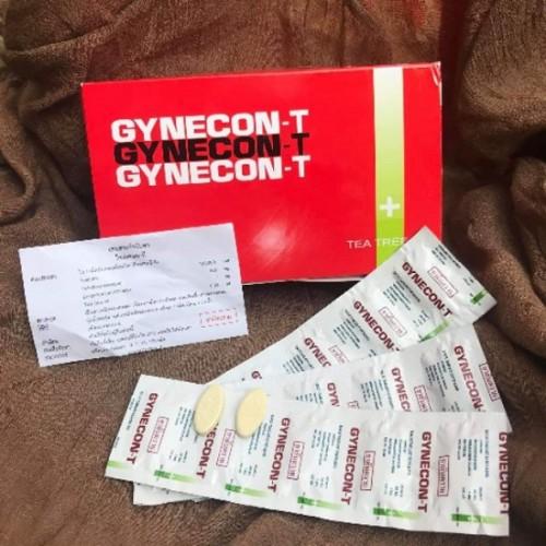 Vỉ 5 Viên Đặt Phụ Khoa Gynecon-T Trà Xanh Thái Lan