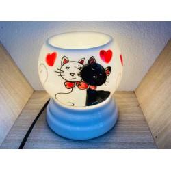 Đèn Xông Tinh Dầu Bát Tràng Mini Miệng Tròn Mèo Yêu MK27