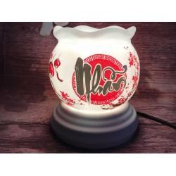 Đèn Xông Tinh Dầu Bát Tràng Size Trung Miệng Lượn Chữ Nhẫn MK90