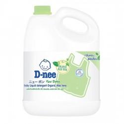 [Organic Aloe Vera] Nước Giặt Quần Áo Em Bé D-nee 3000ml Thái Lan [Xanh Lá]