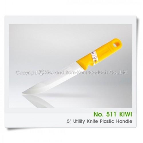Dao Thái Gọt Trái Cây Cán Nhựa Vàng Mũi Nhọn Kiwi 511 Thái Lan [Cán Đỏ]