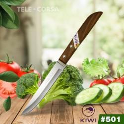 Dao Thái Gọt Trái Cây Cán Gỗ Mũi Nhọn Kiwi 501 Thái Lan Nhập Khẩu