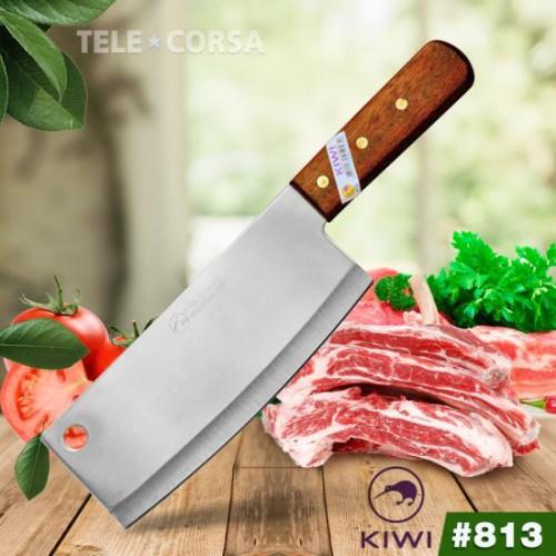 Dao Chặt Thịt Chặt Xương Cán Gỗ Kiwi 813 Cao Cấp Thái Lan