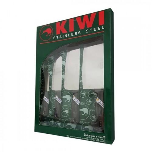 Bộ Dao Inox 4 Món Cán Nhựa Kiwi W4P Thái Lan Nhập Khẩu