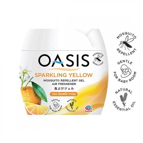Sáp Thơm Phòng Đuổi Muỗi OASIS Sparkling Yellow 180g Thái Lan
