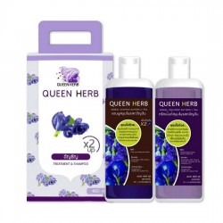 Combo Dầu Gội Dưỡng Tóc Queen Herb x2 Up Herbal Shampoo & Treatment Butterfly Pea Thái Lan