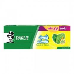 Hộp 2 Chai Kem Đánh Răng Darlie Double Action Bạc Hà Fresh+Clean 170gx2 Thái Lan