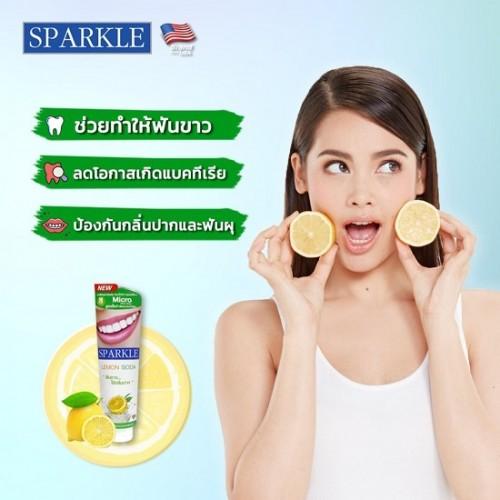 Kem Đánh Răng Bảo Vệ Nứu Sparkle Lemon Soda 100g Thái Lan
