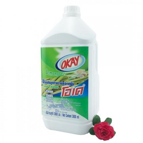 Nước Lau Sàn OKAY Floor Cleaner 3800ml Hương Sả Thái Lan