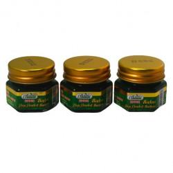 Combo 3 Chai Dầu Cù Là Thơm Màu Xanh Green Herb 20g Thái Lan