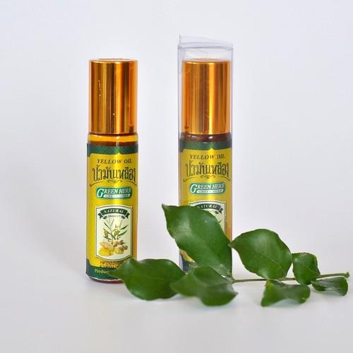 Dầu Lăn Gừng Yellow Oil Green Herb 8cc Thái Lan