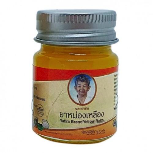 Dầu Cù Là Vàng 22 Vị Thảo Dược Yatim Yellow Balm 15g Thái Lan