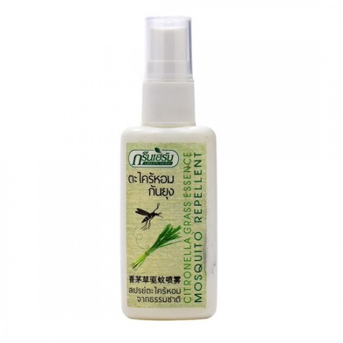 Xịt Chống Muỗi Hương Sả Green Herb Thái Lan