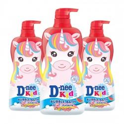 Combo 3 Sữa Tắm Kì Lân Dành Cho Trẻ Em D-nee Kids Bubble Bath 400ml Thái Lan