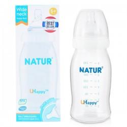 Bình sữa Natur Uhappy cổ rộng 8oz - 240ml