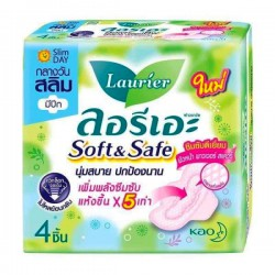 Băng Vệ Sinh Ban Ngày Laurier Soft & Safe Thái Lan [Gói 4 Miếng]