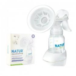 Dụng cú hút sữa và bình Natur 86001 có vòng đệm massage