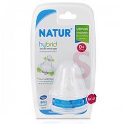 Bộ 2 núm vú Natur Hybrid cỡ nhỏ Size S Bpa Free