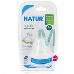 Bộ 2 núm vú Natur Hybrid cỡ trung Size M Bpa Free
