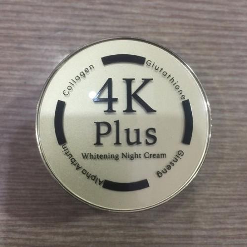 Kem Dưỡng Trắng Da Mặt Ban Đêm 4K Plus Thái Lan [Màu Đen]