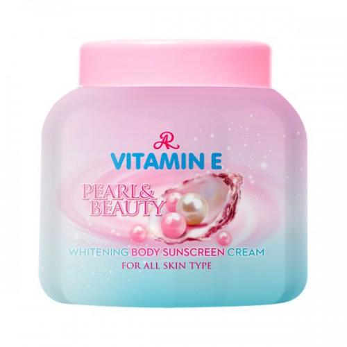 Kem Ngọc Trai Trắng Da Chống Nắng Body AR Vitamin E Pearl & Beauty 200g Thái Lan
