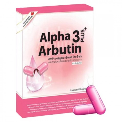 Viên Kích Trắng Da Ban Đêm Alpha Arbutin 3 Plus Thái Lan