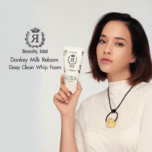Sữa Rửa Mặt Tái Tạo Da Chiết Xuất Sữa Lừa Beauty Idol Donkey Milk Reborn 120g Thái Lan