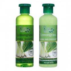 Bộ Dầu Gội Dầu Xả Tinh Dầu Sả Bio Way Lemongrass 360ml Thái Lan [Tặng Kèm Nước Rửa Tay Khô]